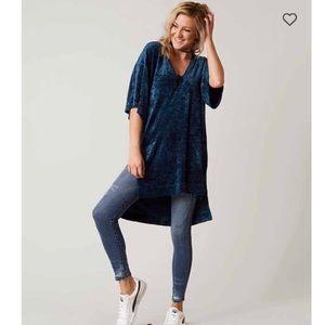 Free people luxe velvet tunic top